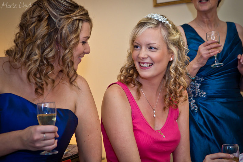 Bride and bridesmaid at Grosvenor Pulford