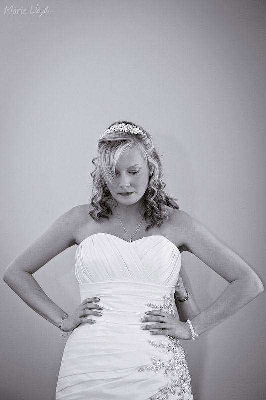 B&W with toning - bride at Grosvenor Pulford