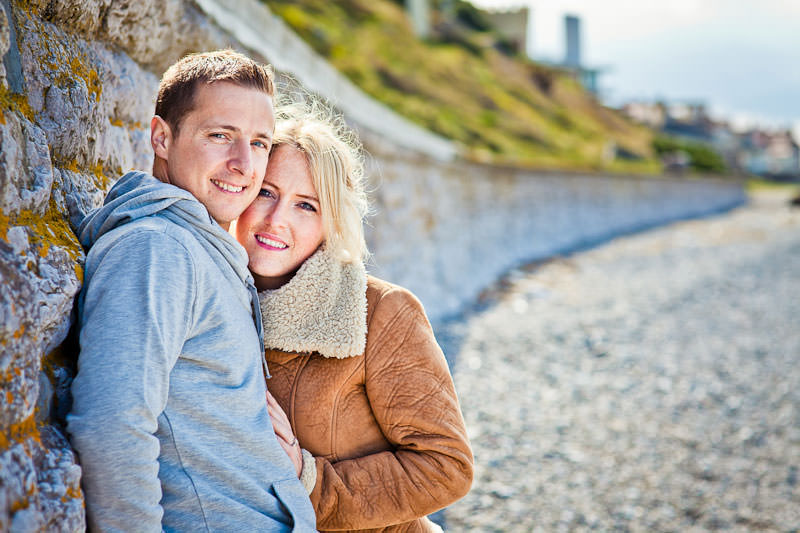 Llandudno beach engagement, Sigma 85mm