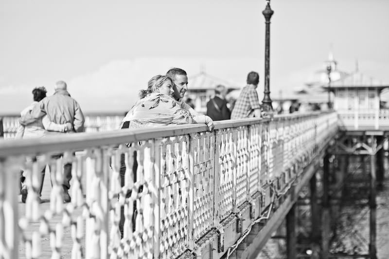 Llandudno pier engagement shoot, looking out to sea