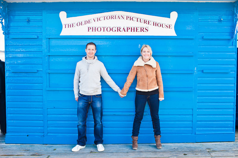 Llandudno pier engagement shoot, The Olde Victorian Picture House - how apt!