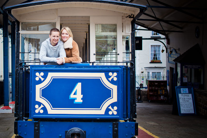 Llandudno engagement shoot, at the tram station