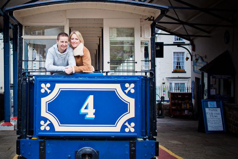 Llandudno engagement shoot, at the tram station