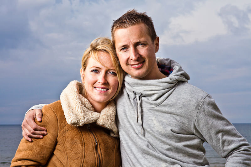 Llandudno engagement shoot, lit with softbox