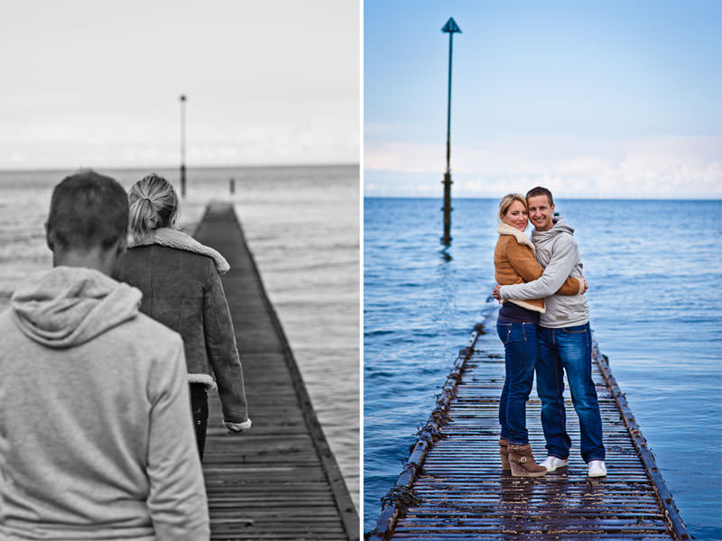 Llandudno engagement shoot, on the boardwalk