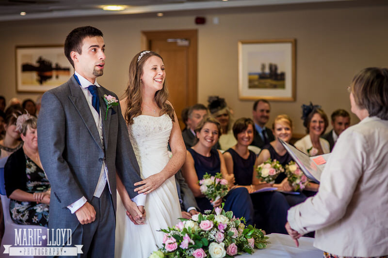 wedding ceremony at Hill Valley Hotel, Whitchurch