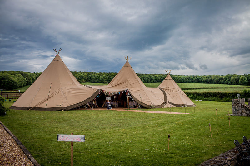 North Wales Tipi wedding at a rented house