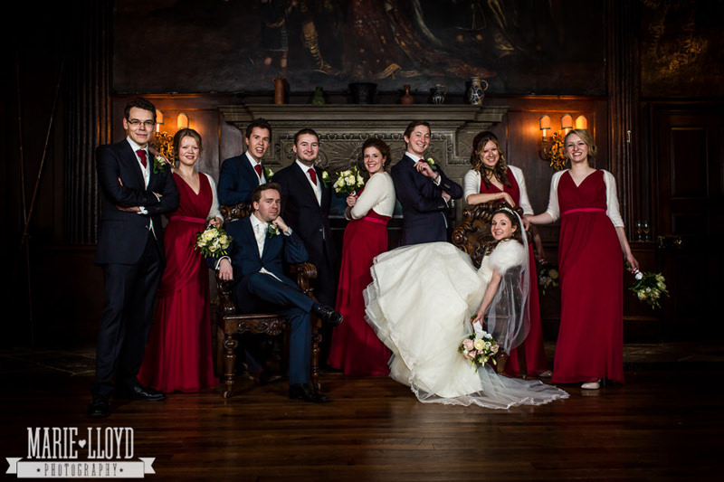 Very cool group shot at an Adlington Hall wedding