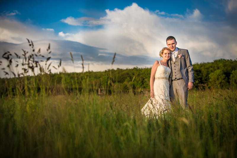 Golden light provides the best evening wedding photographs