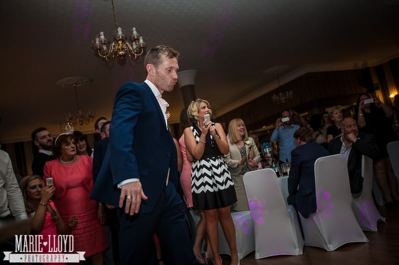 Groom styling it up on the dance floor