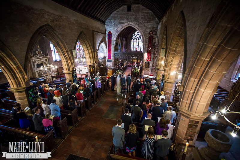 St Peters Chruch in Worfield wedding from the gallery