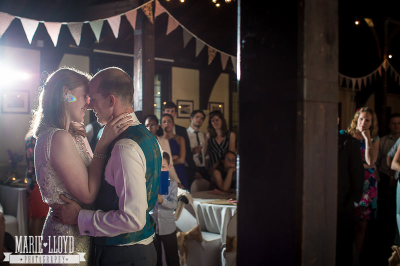 First dance by Shropshire wedding photographer Marie Lloyd