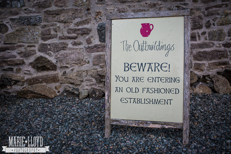 The Outbuildings - beware you are entering an old fashioned establishment