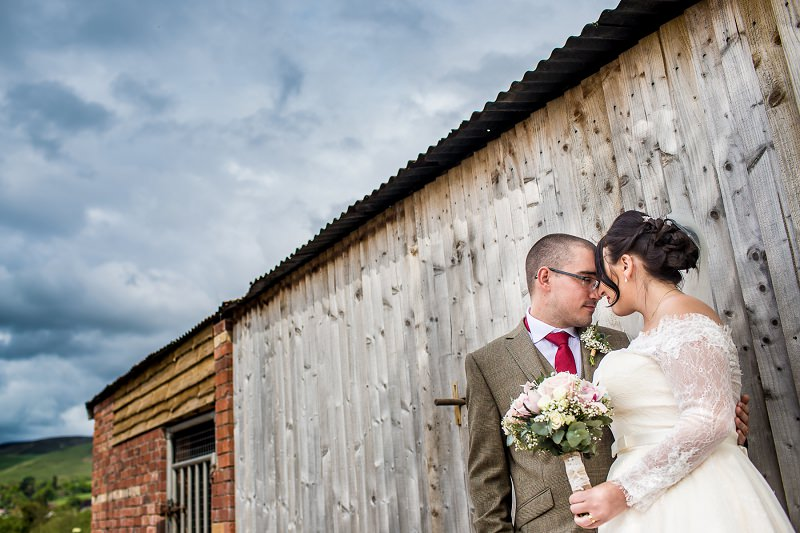 Bride and groom at Ruthin wedding venue