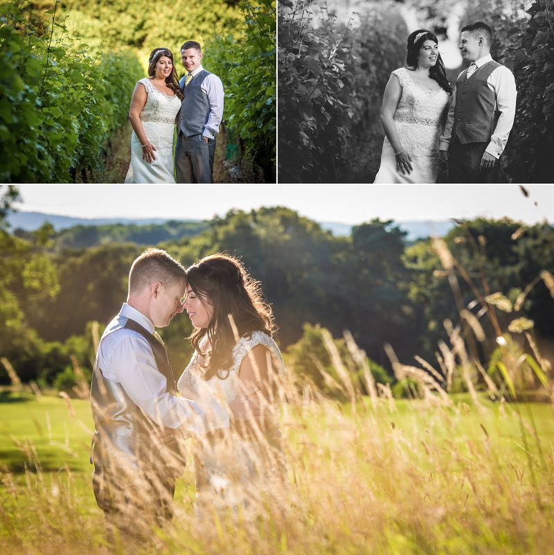 Vineyards wedding photographs at Carden Park Hotel