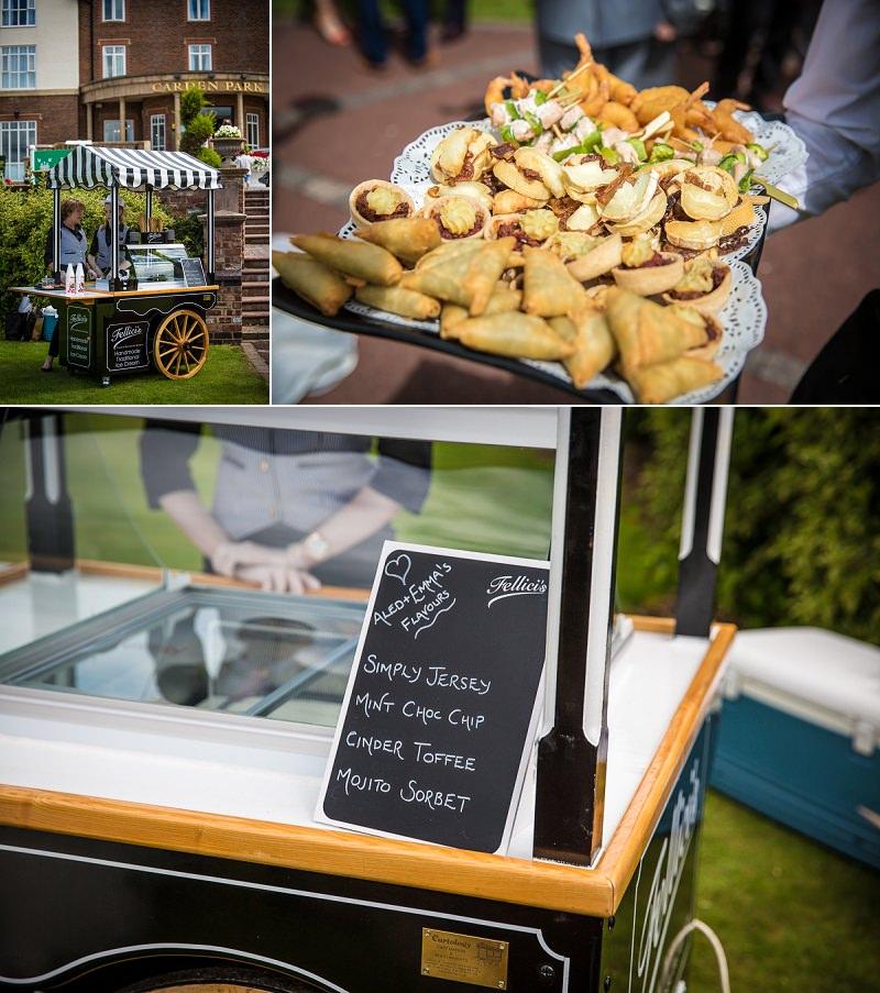 Ice cream cart at wedding