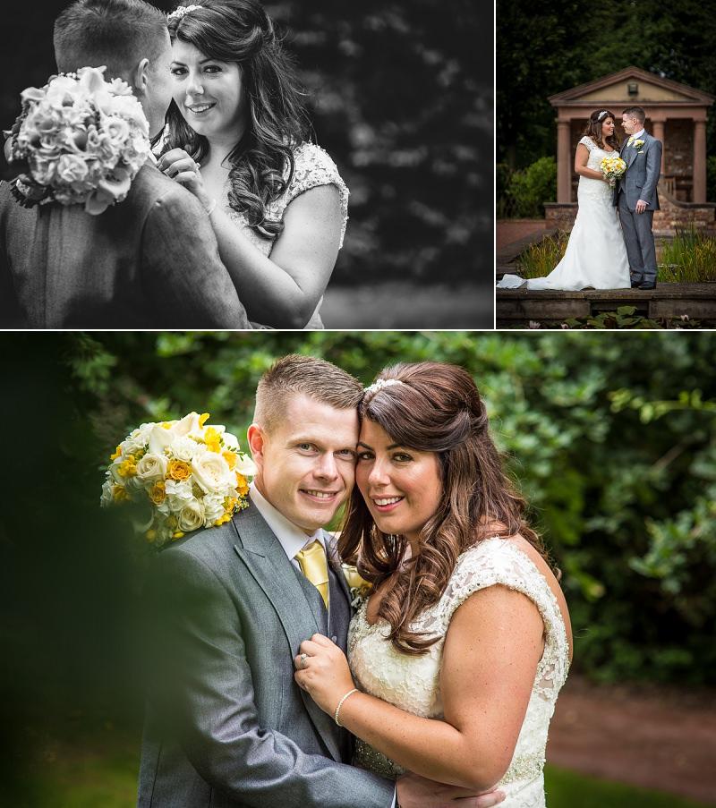 Carden Park wedding photographer Marie Lloyd bride and groom portraits