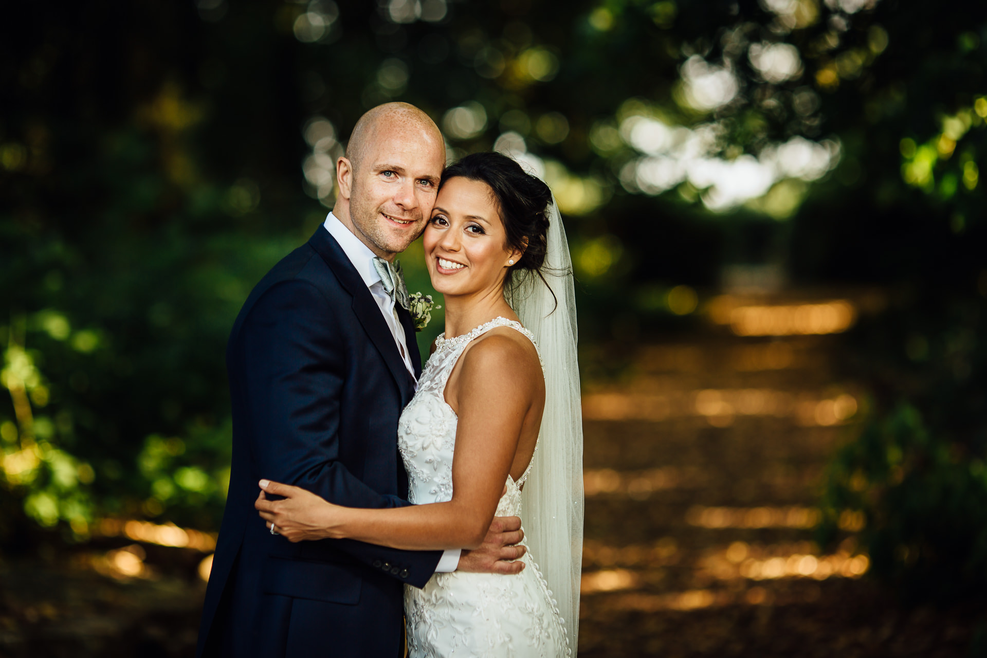 WEDDING PHOTOGRAPHY of bride and groom atinglewood manor