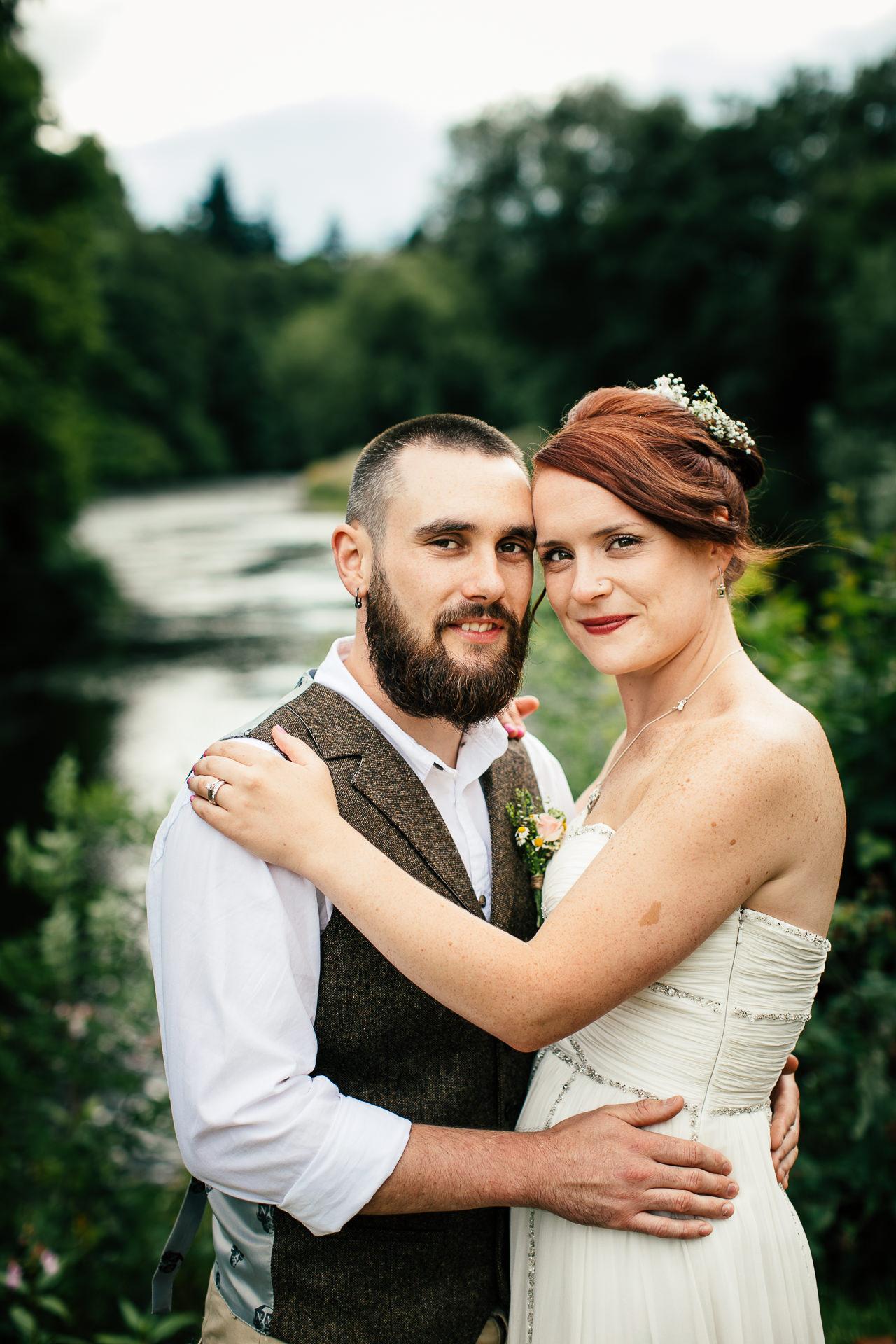 WEDDING PHOTOGRAPHY at boat inn erbistock