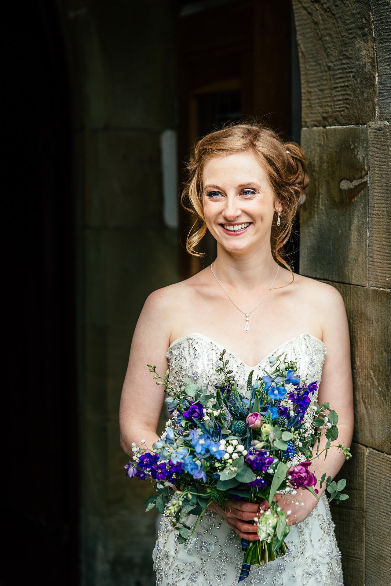 bride portrait north wales
