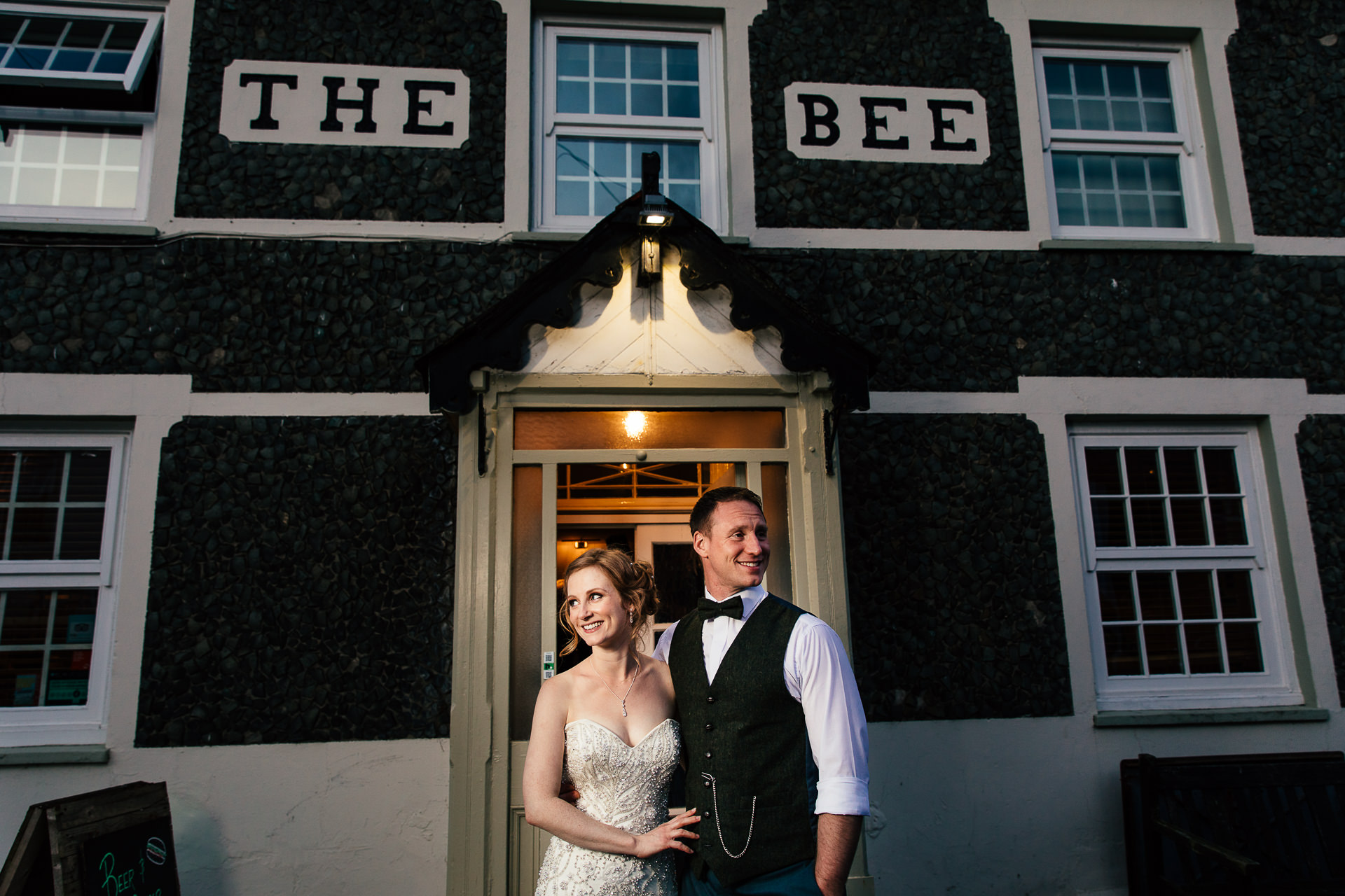WEDDING PHOTOGRAPHYat the bee inn north wales