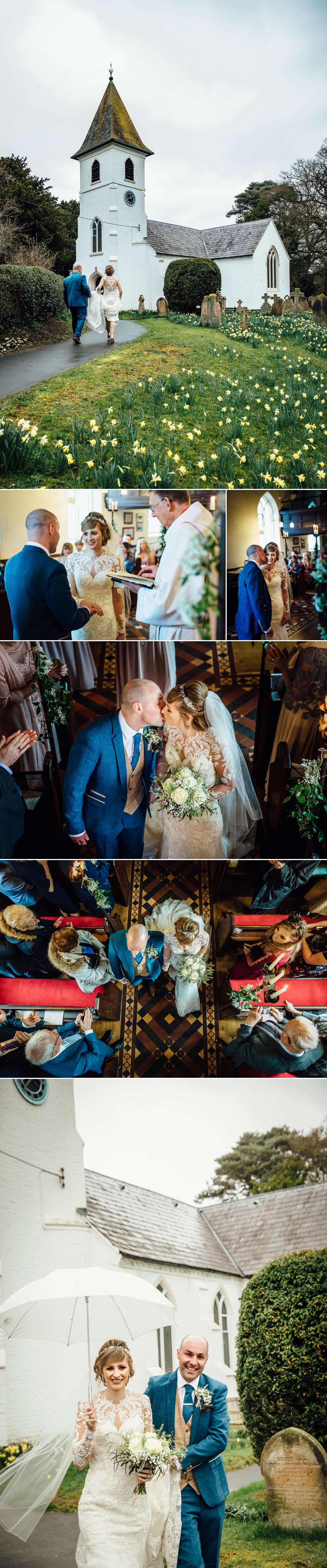 Wedding Ceremony at St Marys Whitwell Church near Iscoyd Park
