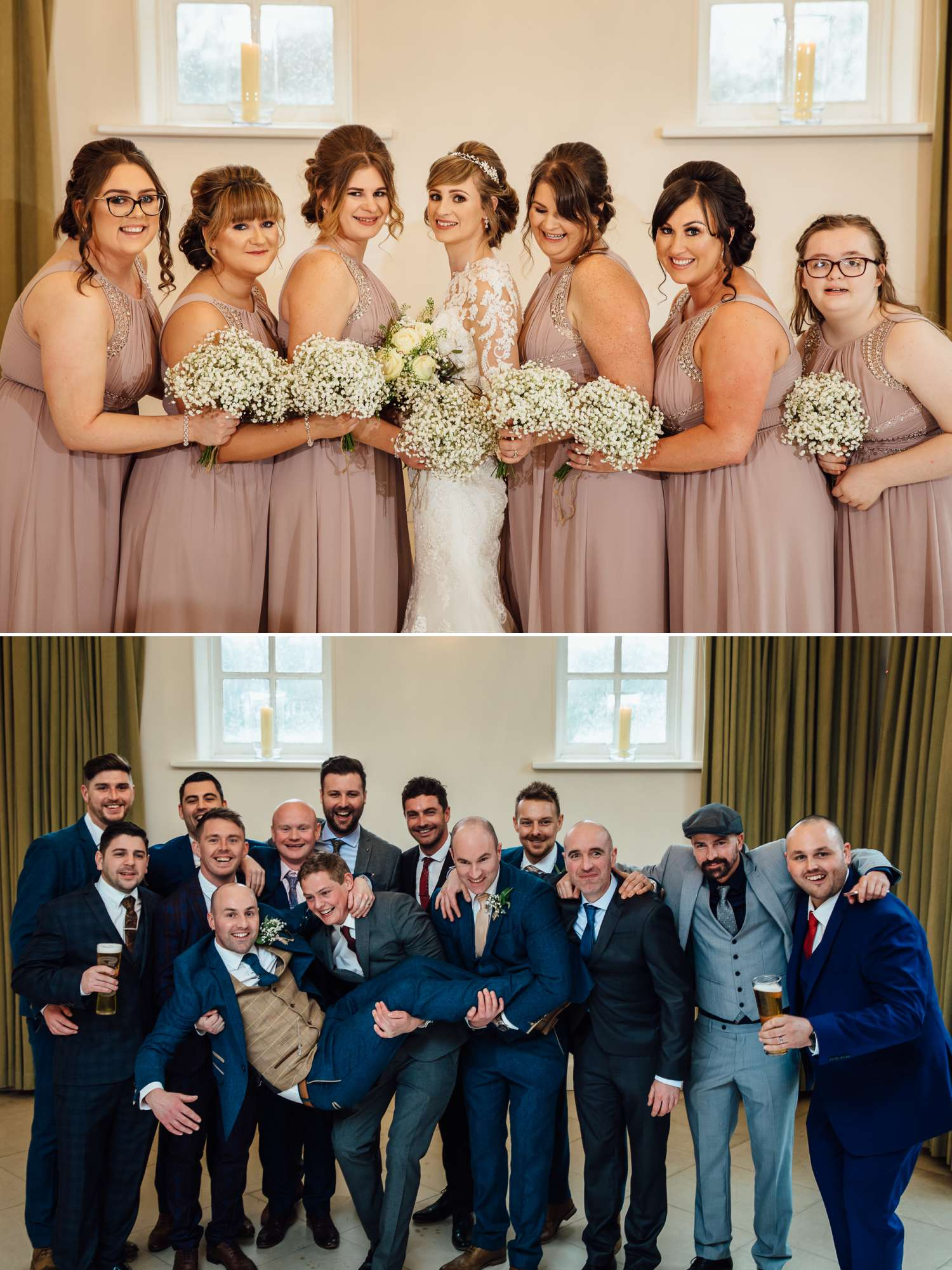 Bridal party at Iscoyd Park