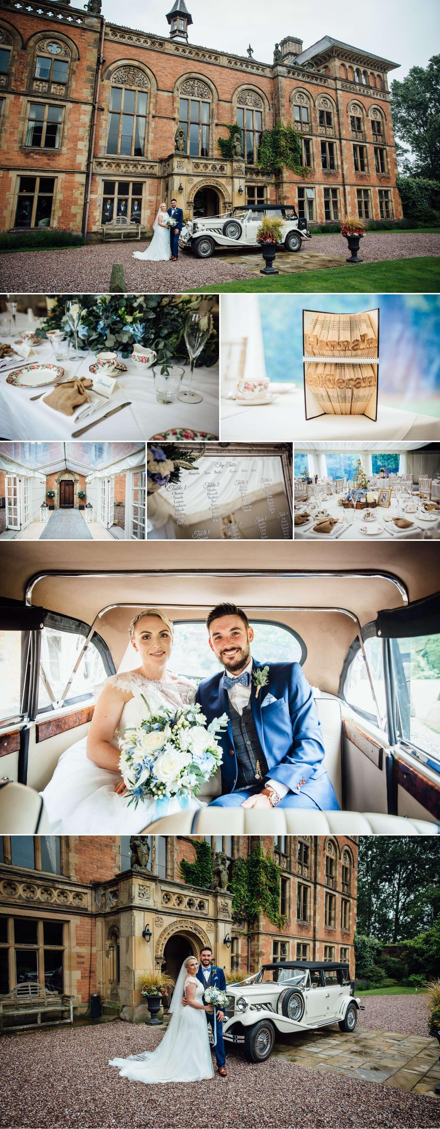 Wedding photography at Soughton Hall wedding venue