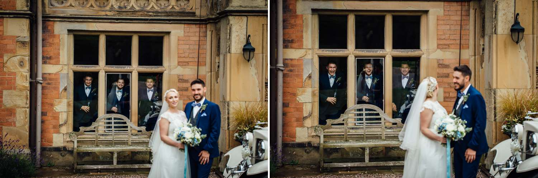 Wedding photography with couple getting photo bombed