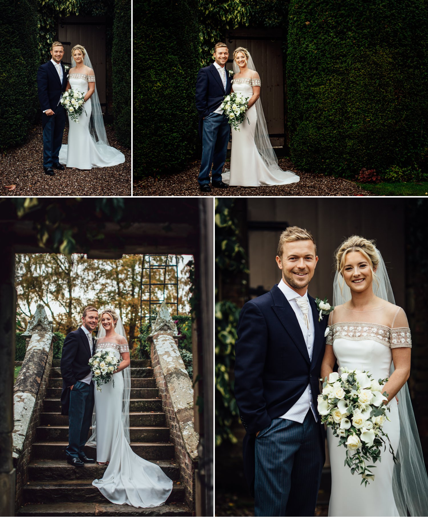 Wedding Photography Portraits of the couple at Soughton Hall