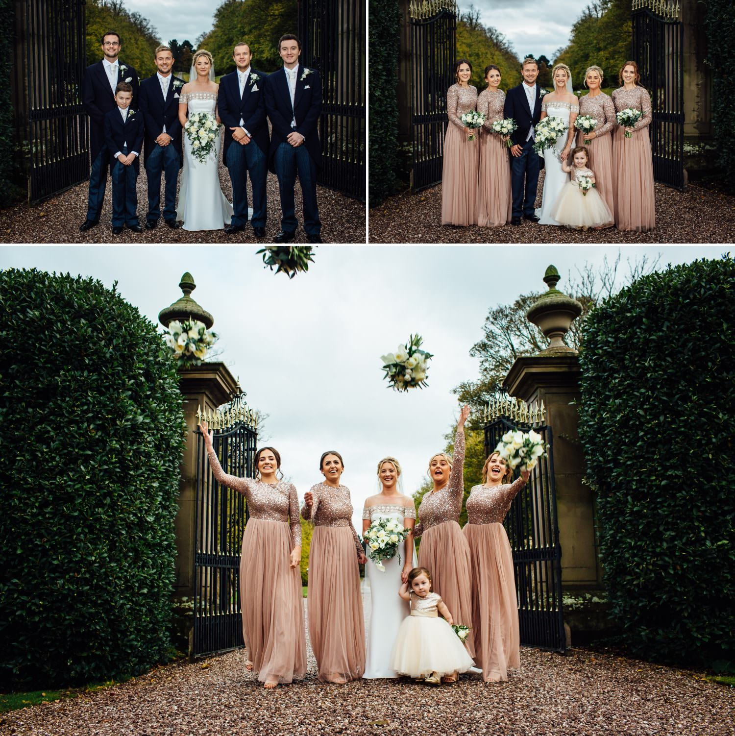 wedding photography at the gates of soughton hall