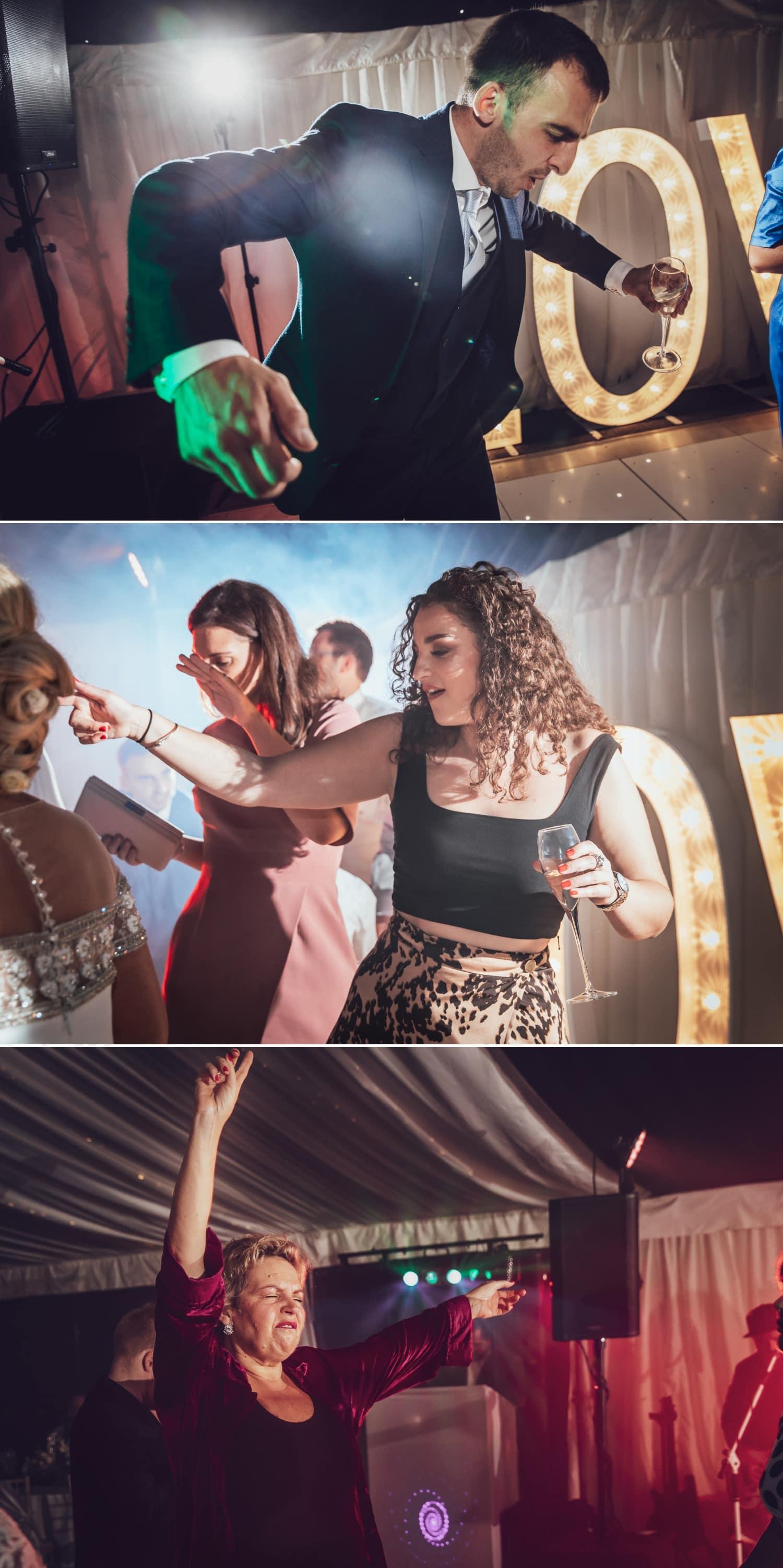 wedding photographs of the dancing at soughton hall