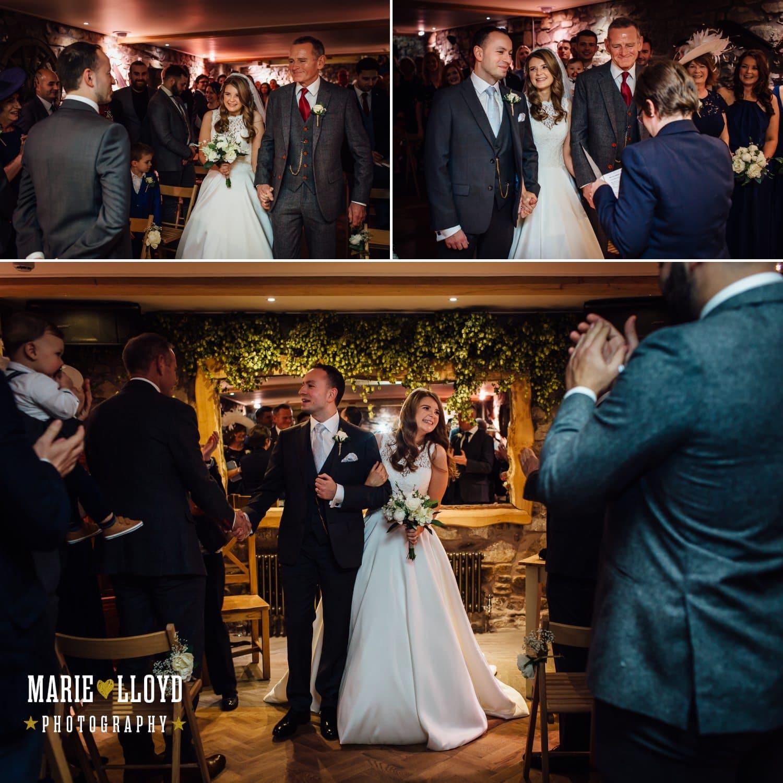 Wedding Photography Tower hill barns, wedding photography of wedding ceremony