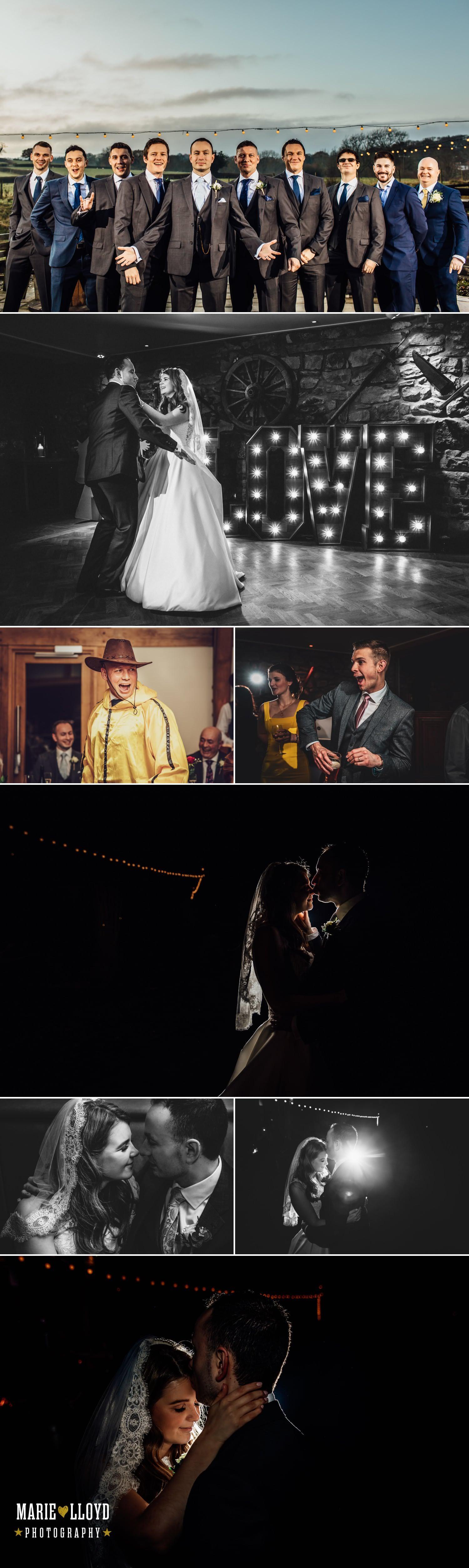 Wedding Photography Tower hill barns, evening wedding photography