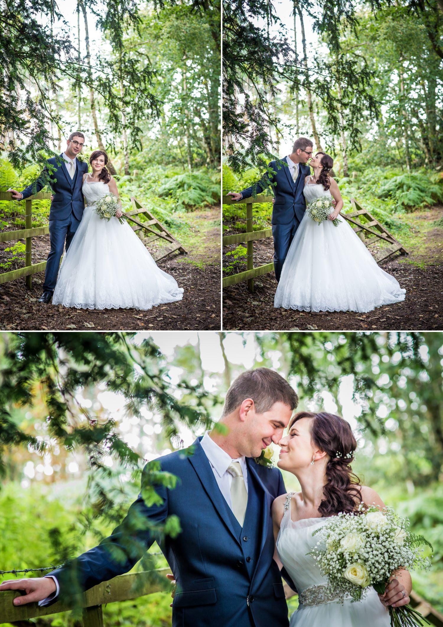 Couple wedding photographs at Peckforton Castle, Chester