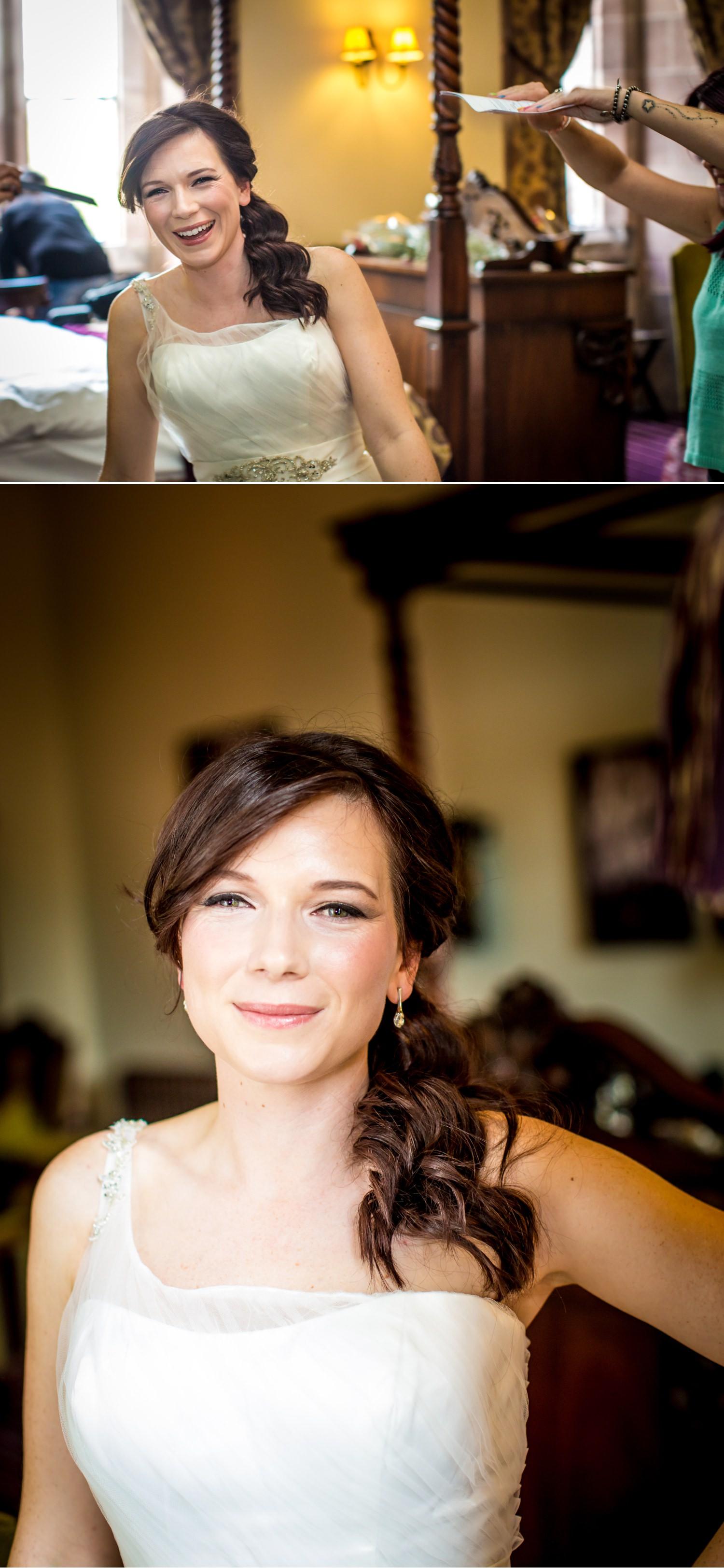 wedding photography portraits in Peckforton Castle, Chester