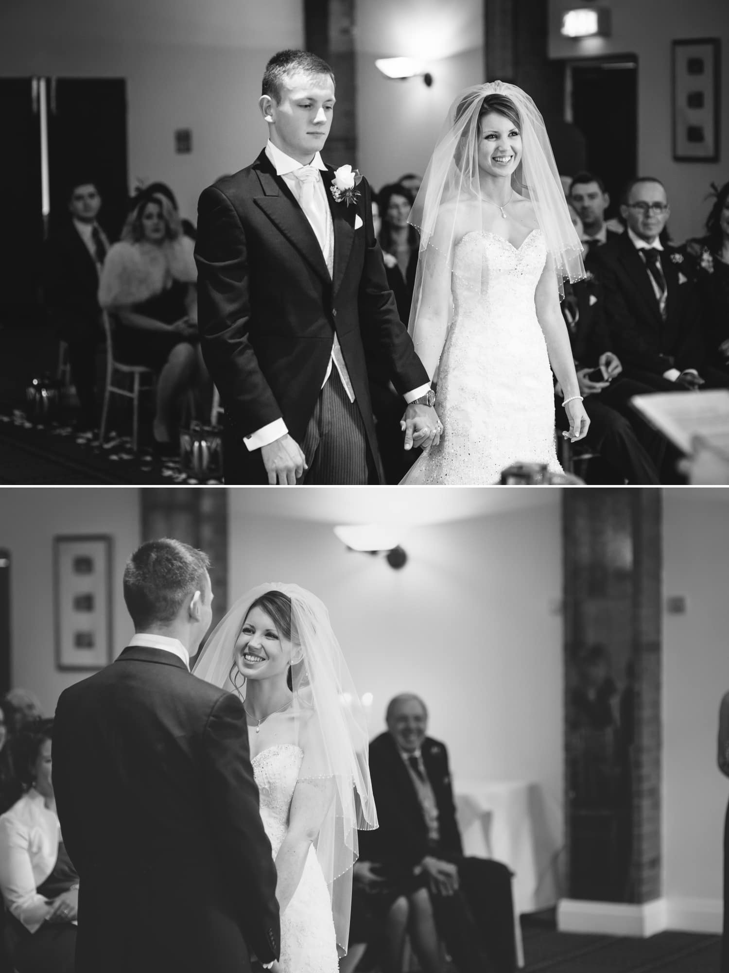 Wedding photography of the wedding ceremony at Carden Park Hotel, Chester, Cheshire