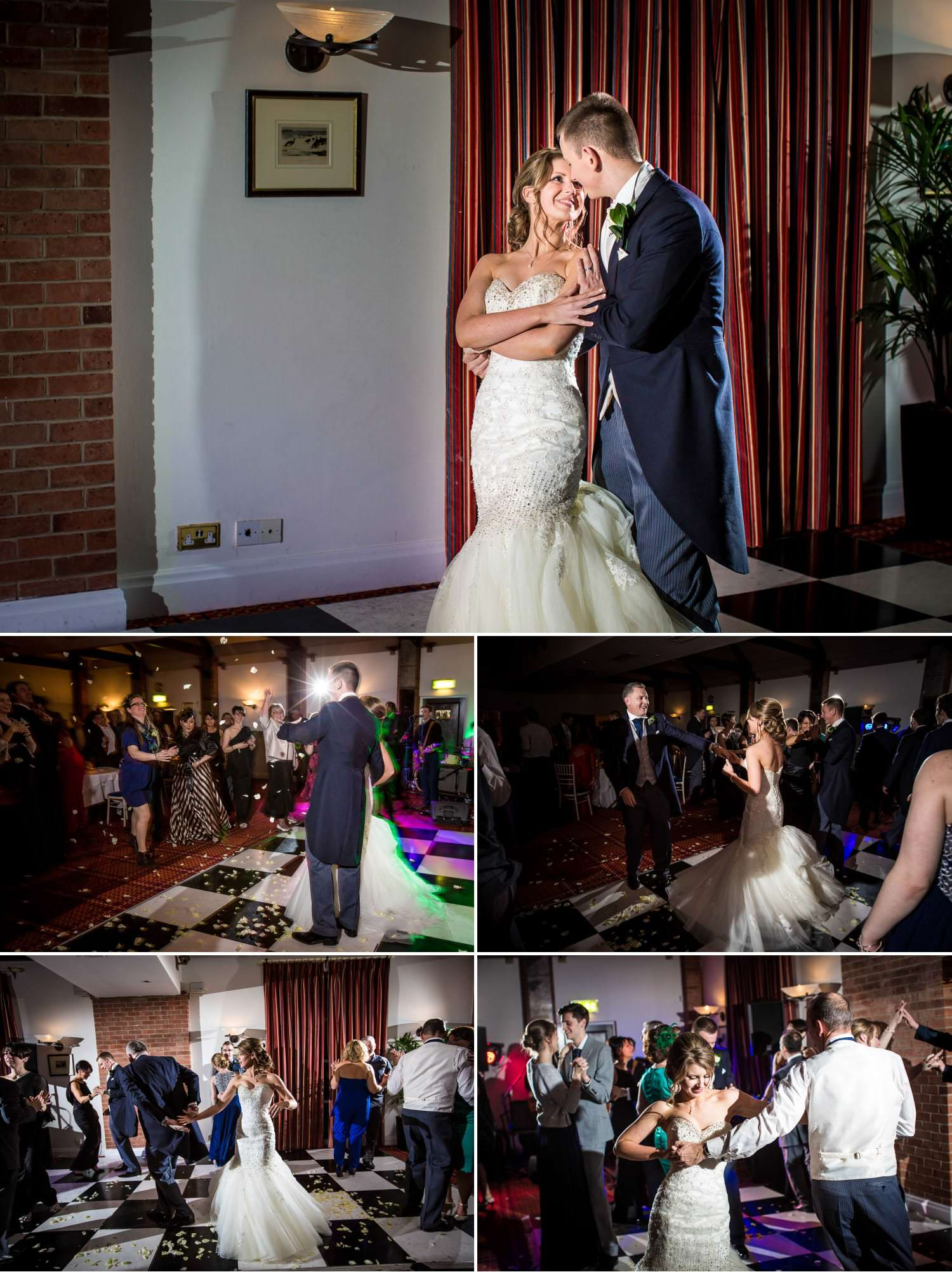 Wedding photography of the first dance at Carden Park, Chester, Cheshire