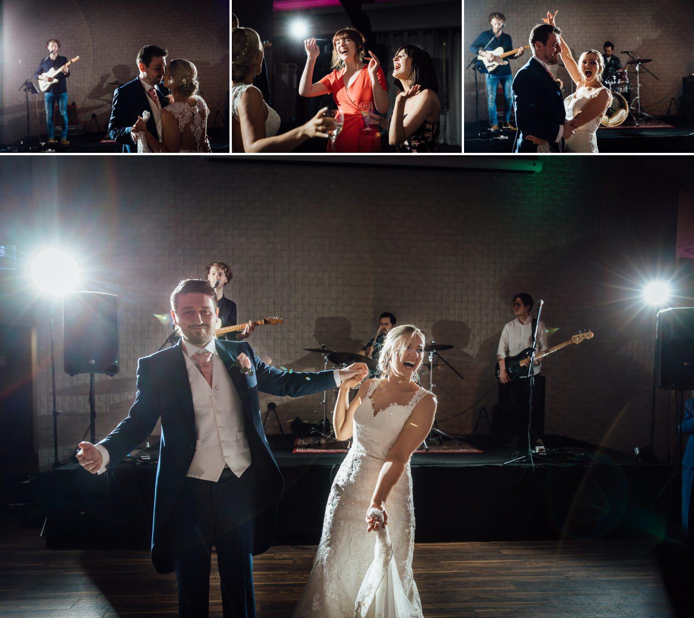Wedding first dance at Cheshire wedding venue, Colshaw Hall