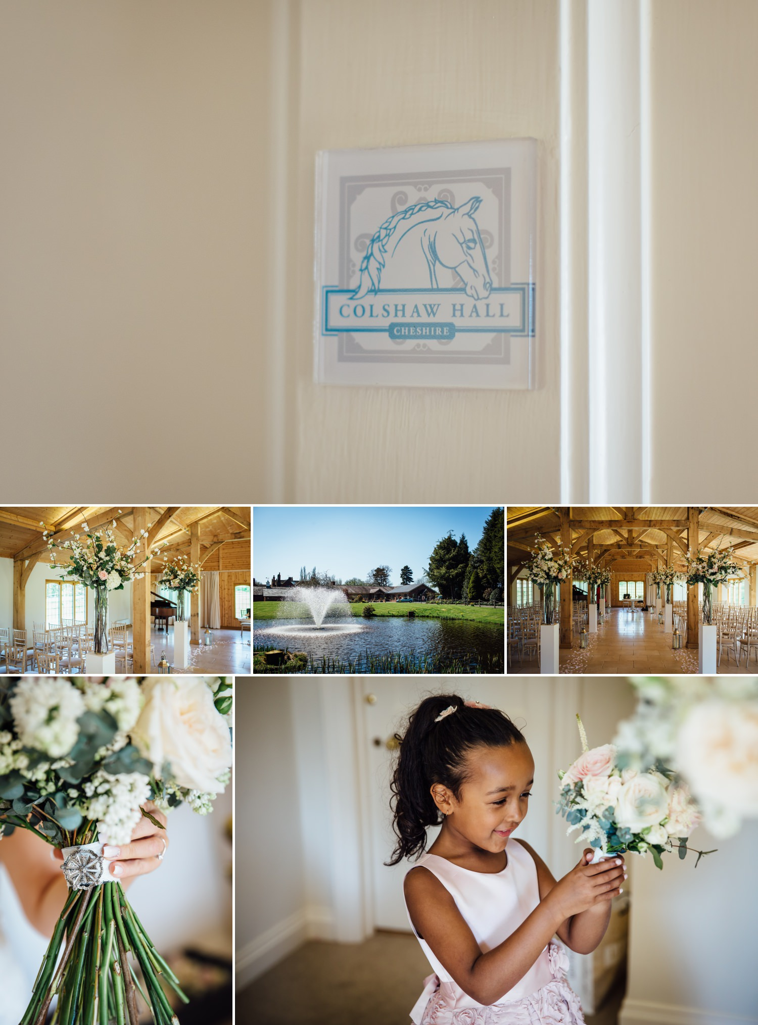 wedding photography detils of the Cheshire wedding venue Colshaw Hall