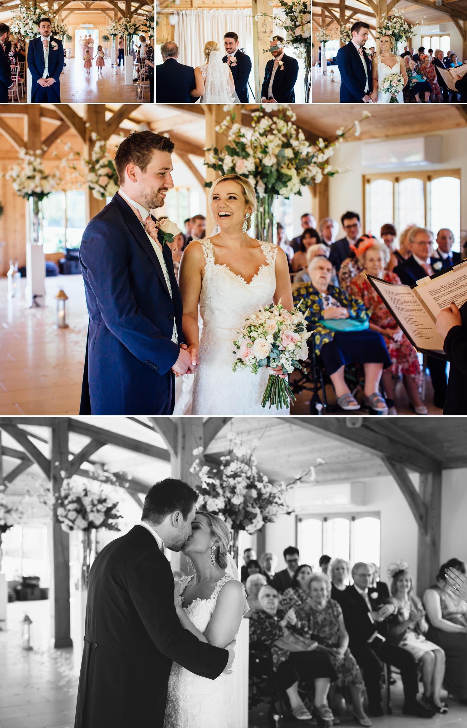 wedding ceremony at Colshaw Hall cheshire