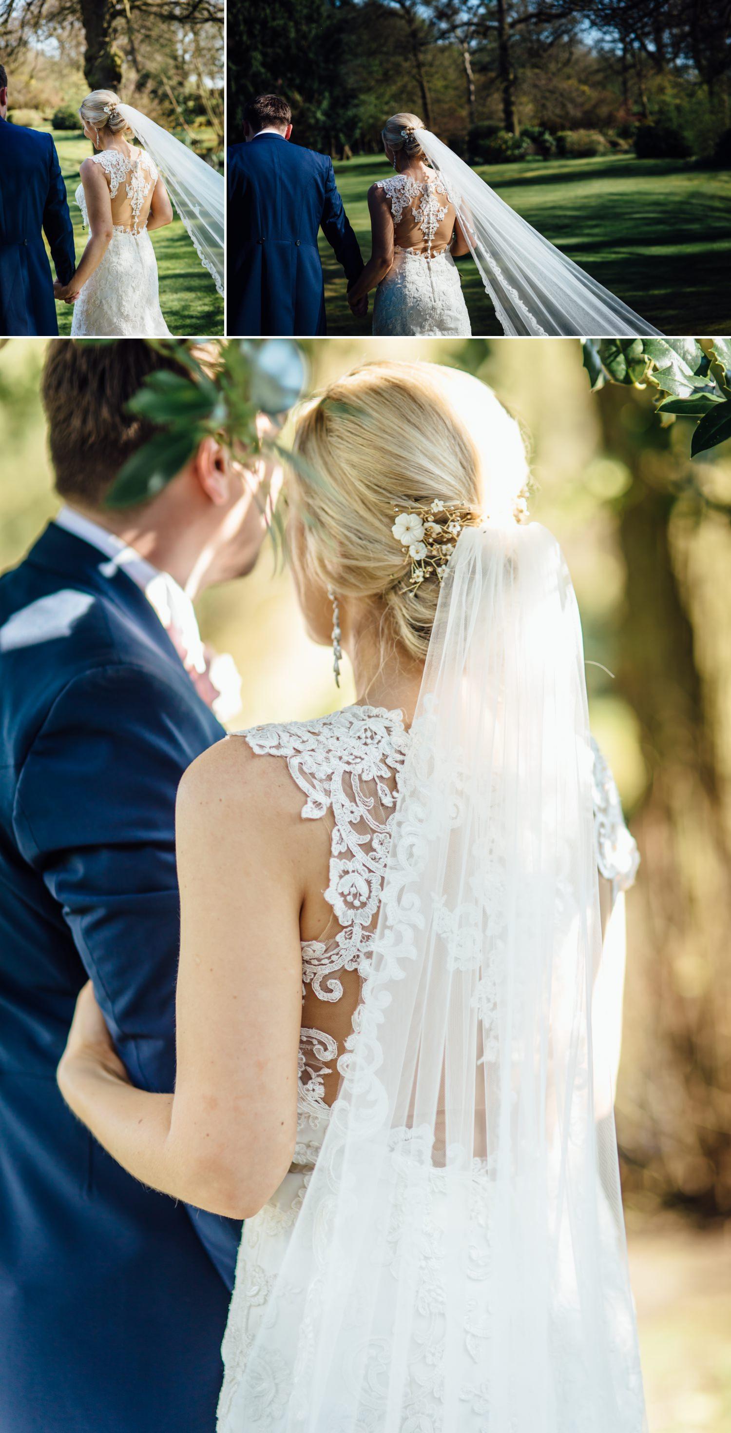 Bridal dress detail shots at cheshire wedding venue Colshaw Hall