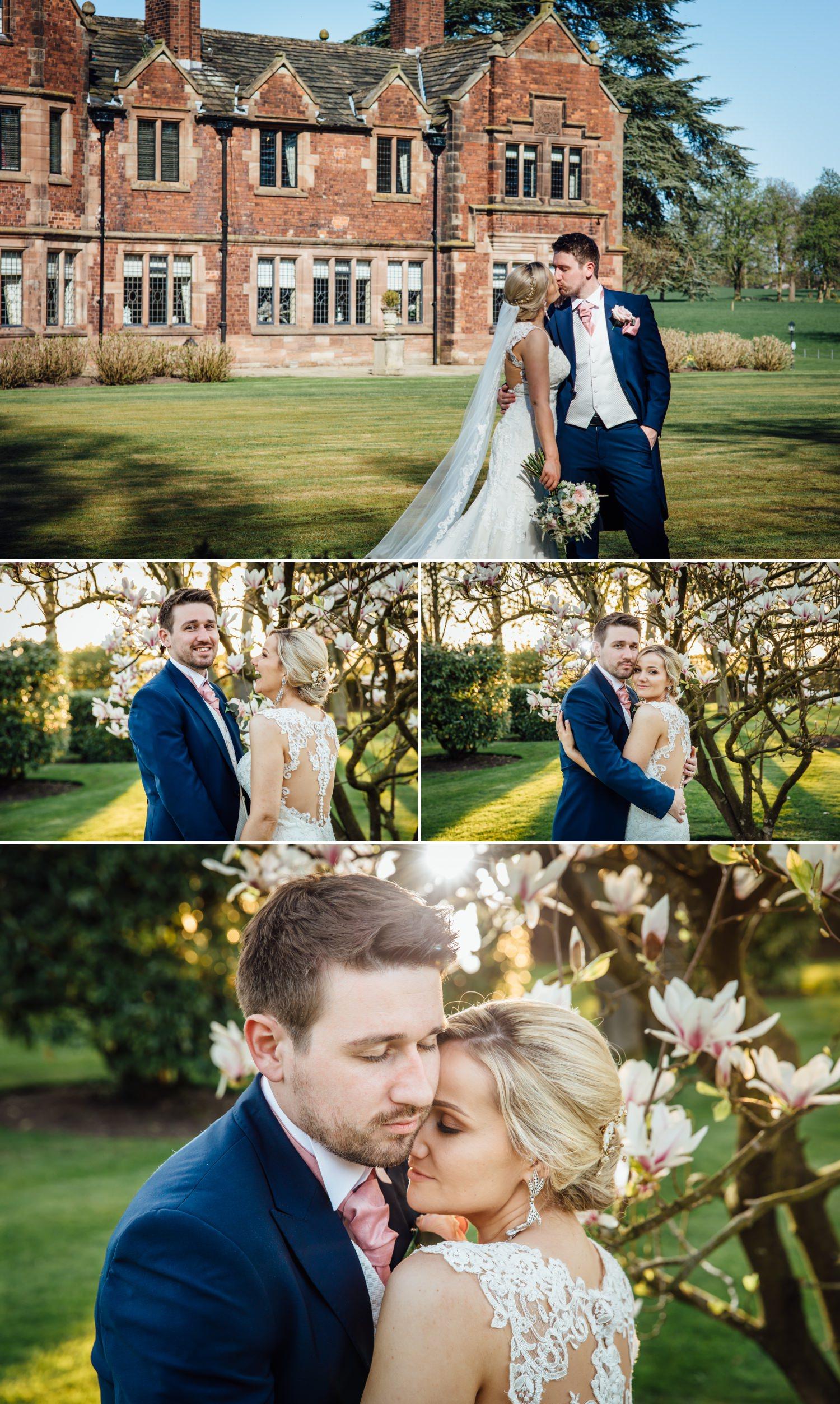 wedding photography couple portraits at Cheshire venue Colshaw Hall