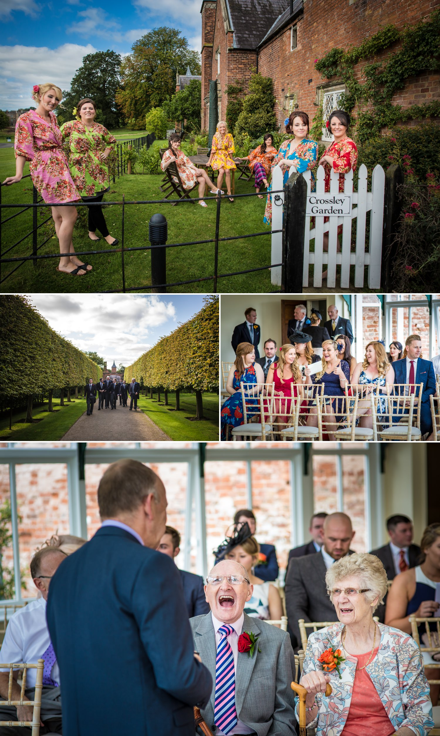Wedding photography at cheshire venue Combermere Abbey