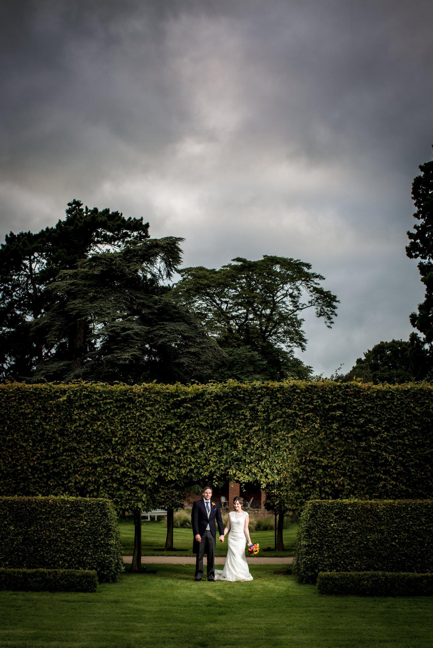 wedding portrait at Cheshire venue Combermere Abbey