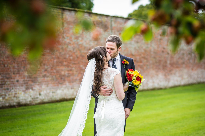 couple portrait photography at Cheshire venue Combermere Abbey