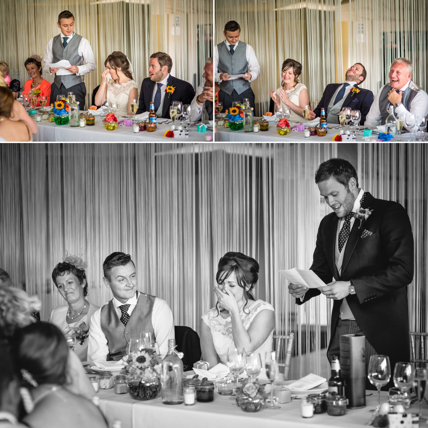 Speeches at wedding venue Combermere Abbey