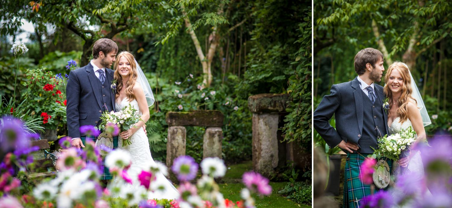 Wedding portraits in Cheshire venue Hundred House Hotel