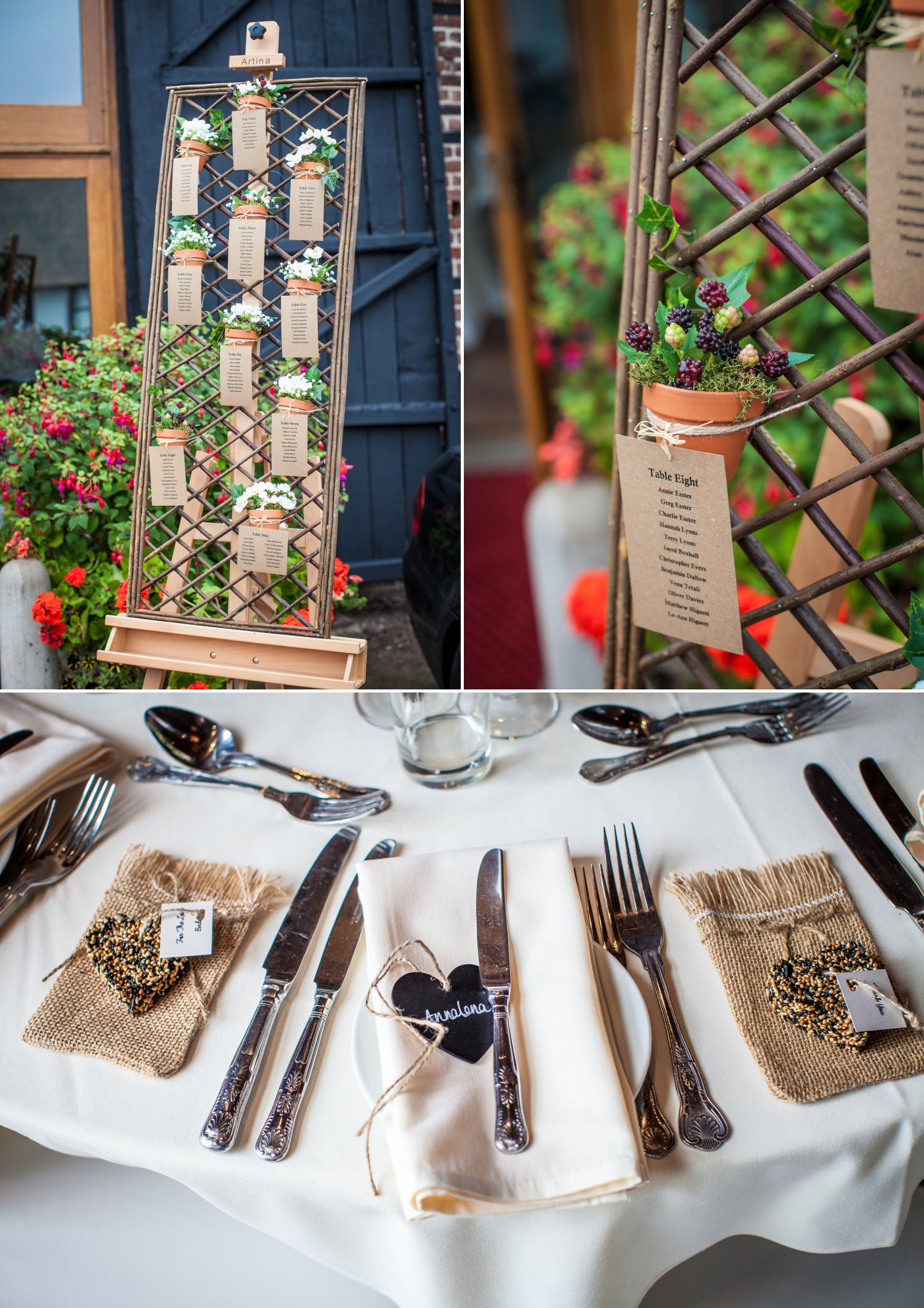 Wedding details at Cheshire venue Hundred House Hotel