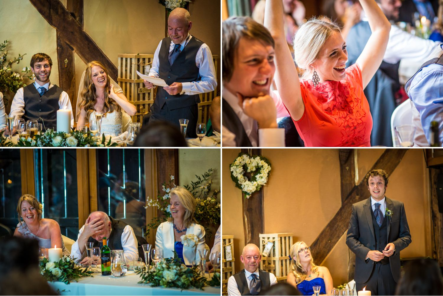 Wedding speeches at Cheshire venue Hundred House Hotel